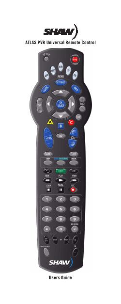 shaw_atlas_pvr_universal_remote_control