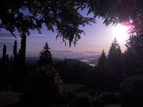 twilight Burnaby Mountain