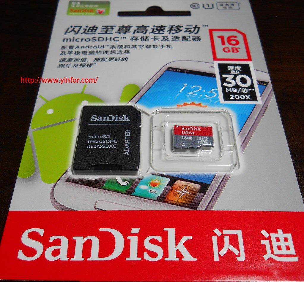 SanDisk microSDHC 16GB