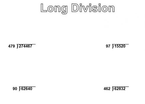 Long Division Questions