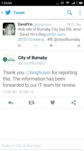 burnaby city site SSL issue