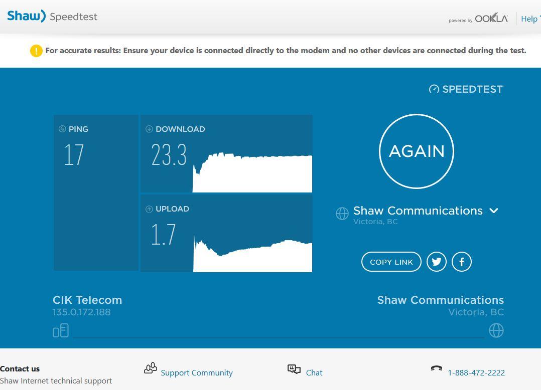 Internet Speed Test Telus